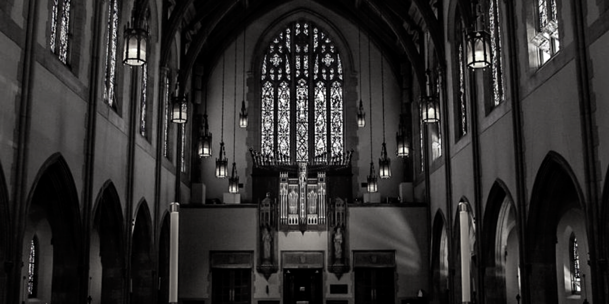 church-bw